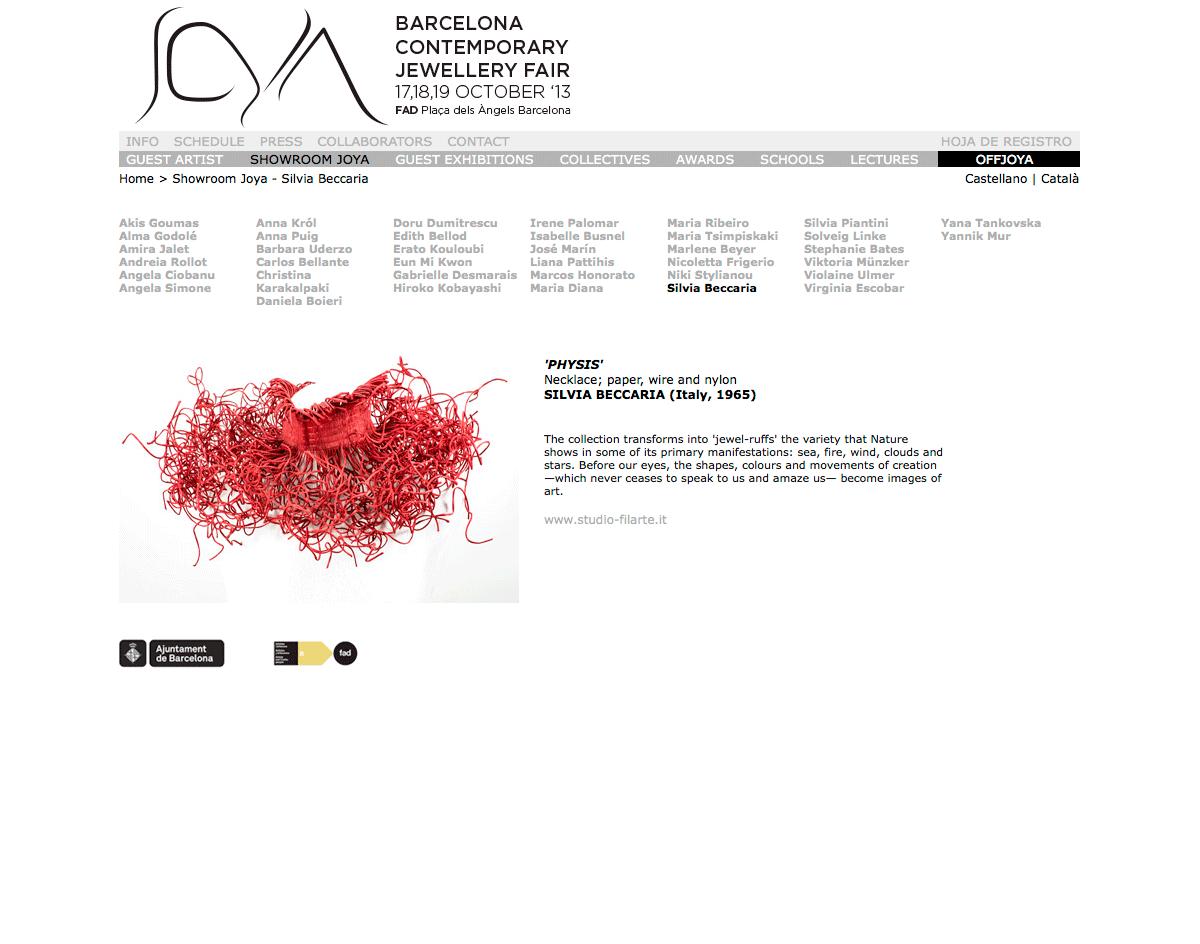 Joya Barcelona, joyabarcelona.com – ottobre 2013