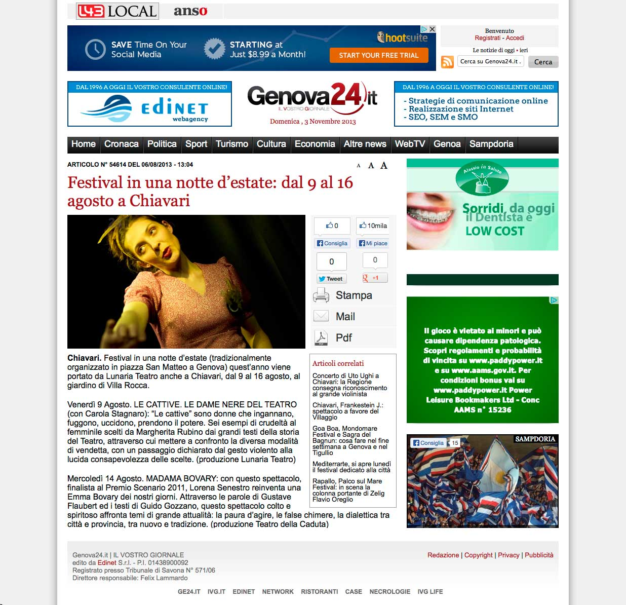 Genova24.it – 06.08.2013