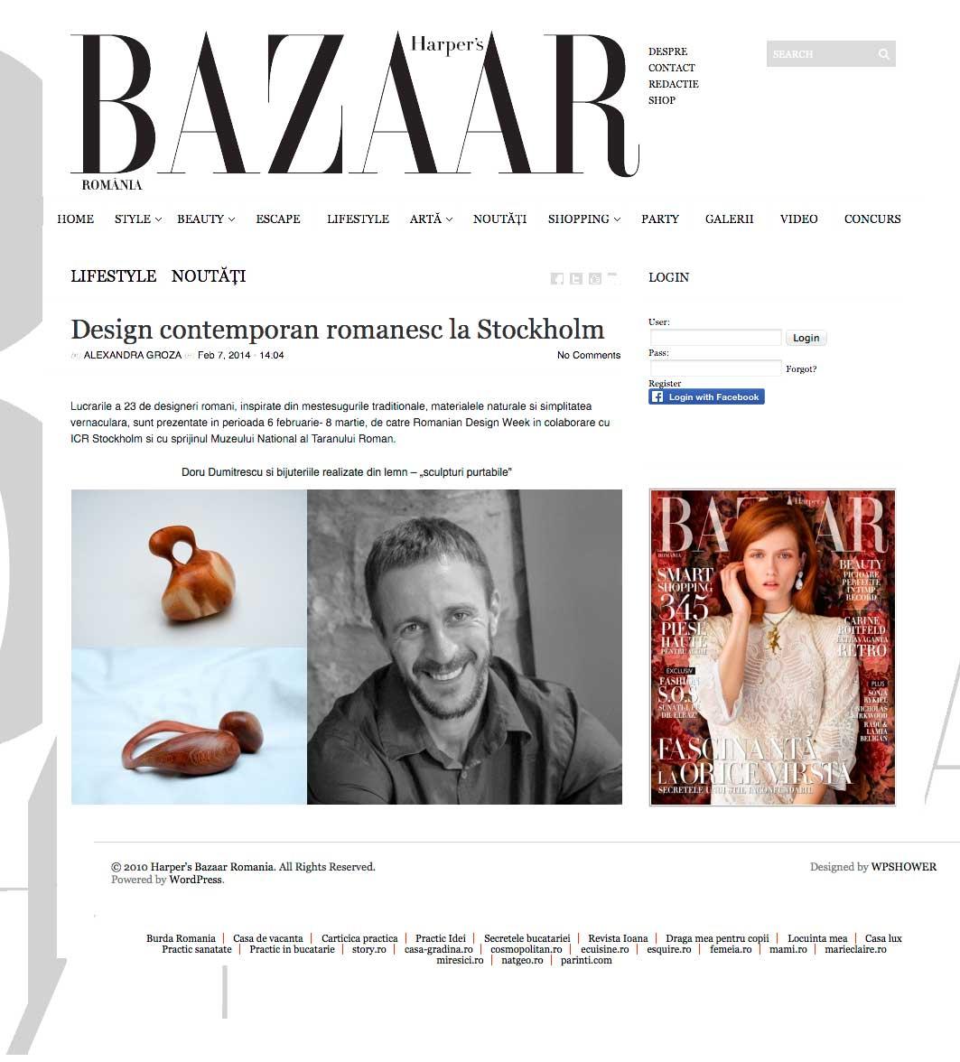 Harper's Bazar Romania, Doru Dumitresku, portrait – febbraio 2014