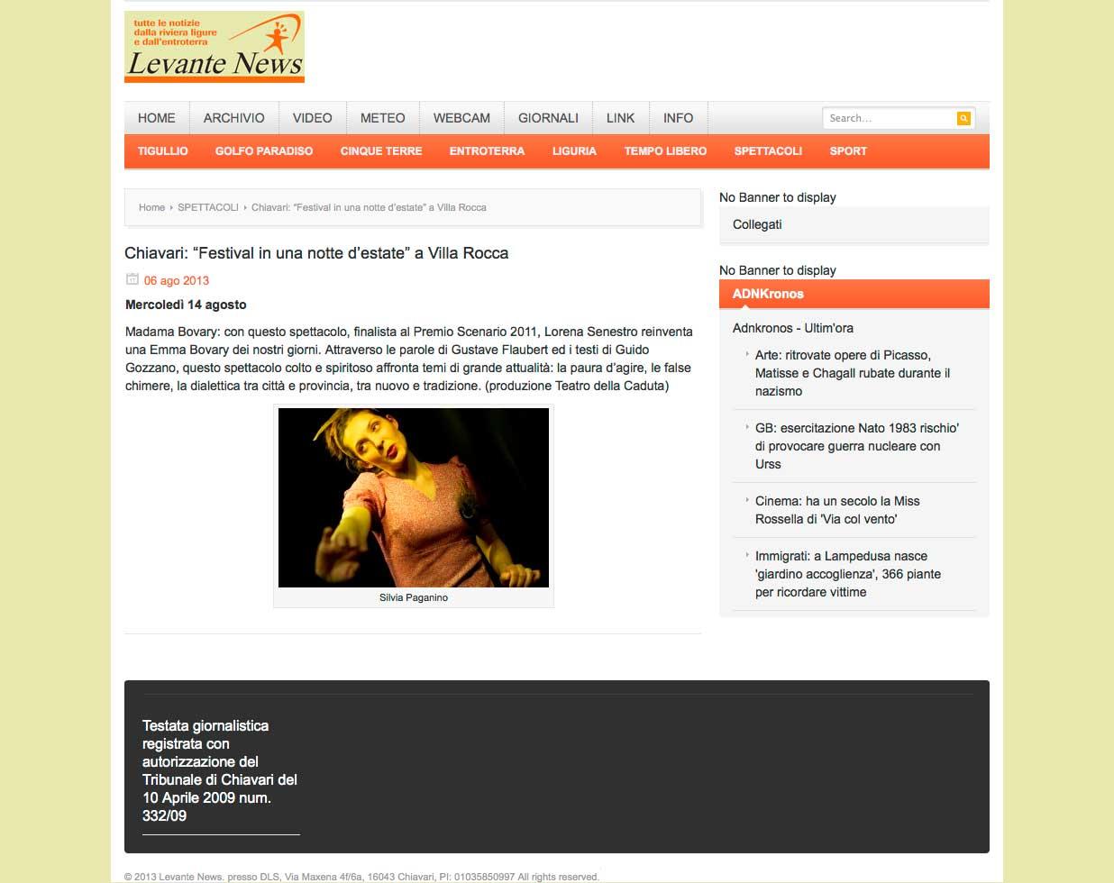 Levante News – 06.08.2013